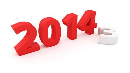 expiring: New year 2014 changes the expiring year 2013 Stock Photo