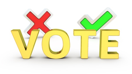 Two options of vote, choose the right way Stock Photo - 19238818