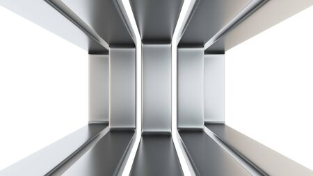 frosted: Abstract design of five frosted metal frames on white Stock Photo