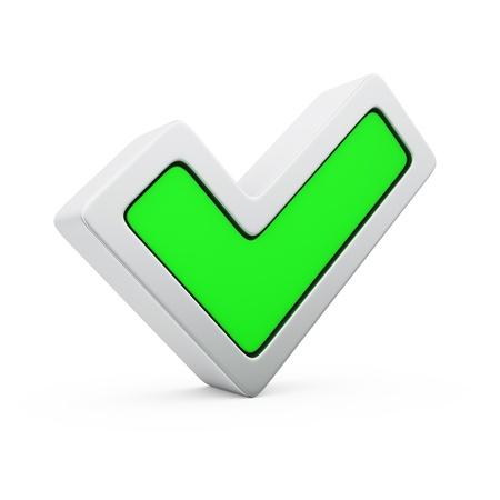 Green symbol of positive voting Stock Photo - 19314400