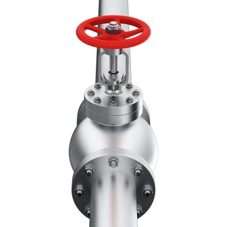stop gate valve: Vertical composition of pipe with valve