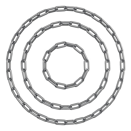 diameters: Closed circle chains of different diameters