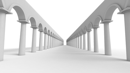 column arch: Perspective view at abstract gallery