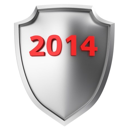 armored safes: Steel shield with red digits 2014