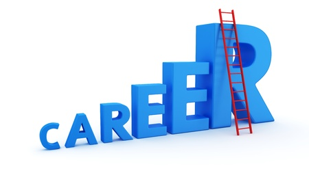 stepladder: The word career as a ladder and a stepladder to top