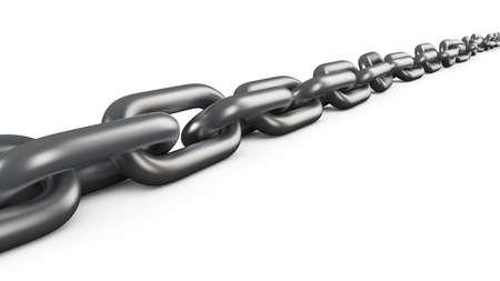 lies: Chain lies on a white surface Stock Photo