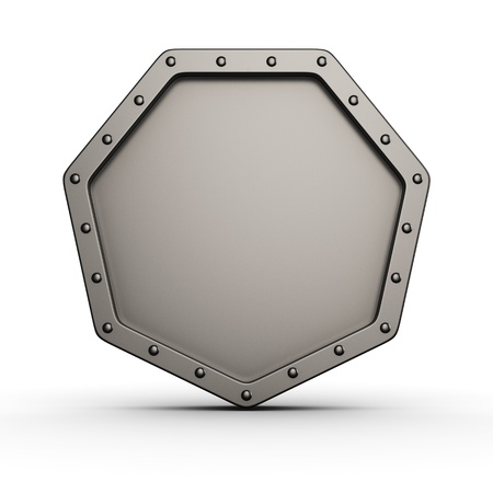 armored safes: Metal armored icon with rivets on white