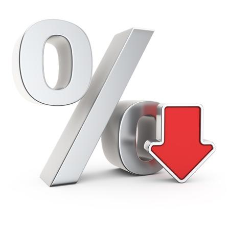 depreciation: Percent symbol and icon of depreciation Stock Photo