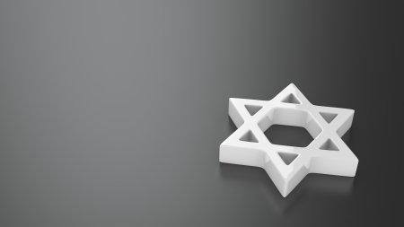 judah: Star of David on the grey background with copy space for text