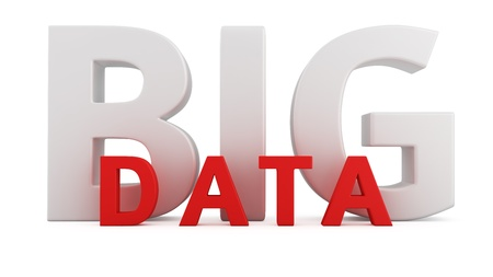 Computer innovation technology Big Data on white Standard-Bild