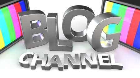 Videoblog TV channel broadcasting concept Stock Photo - 20284791