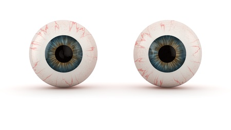 Two eyeballs isolated on white Stock Photo - 20284806
