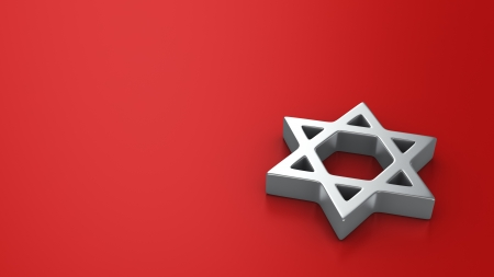 judah: Star of David on the red background with copy space for text