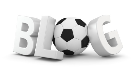 Big word BLOG with soccer ball Stock Photo - 20284846