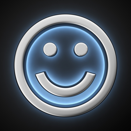 backlight: Happy smiley with backlight effect on the black background