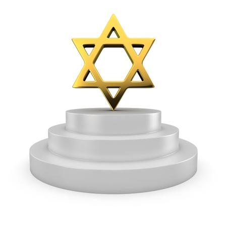 judah: Golden star of David on the podium