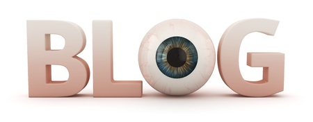 Big word BLOG with eye Stock Photo - 20594053