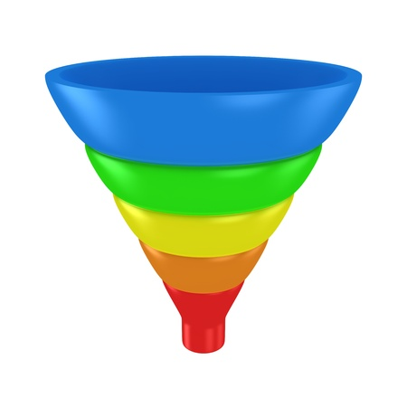 Sales funnel isolated on the white background Фото со стока - 20594058