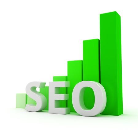bar graph: Growth bar graph of SEO technology