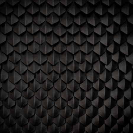 Fantasiedrache Haut von schwarzen Schuppen Standard-Bild