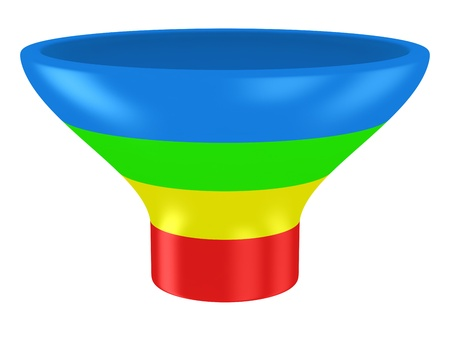 Sales funnel isolated on the white background