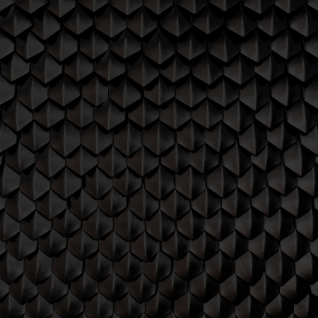 animal scale: Fantasy dragon skin from black scales