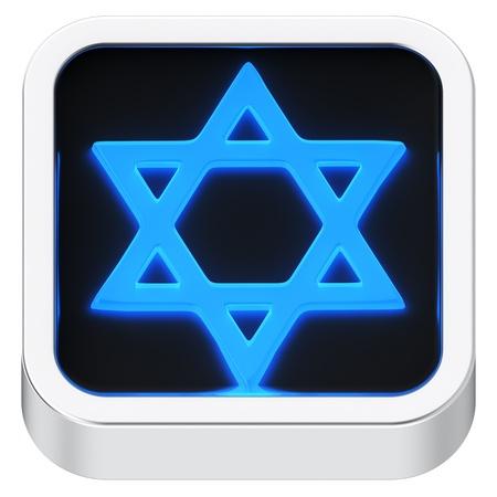 judah: David star luminous square shape application icon