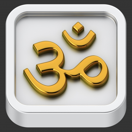 Om rounded square shape application icon Stock Photo - 22155767