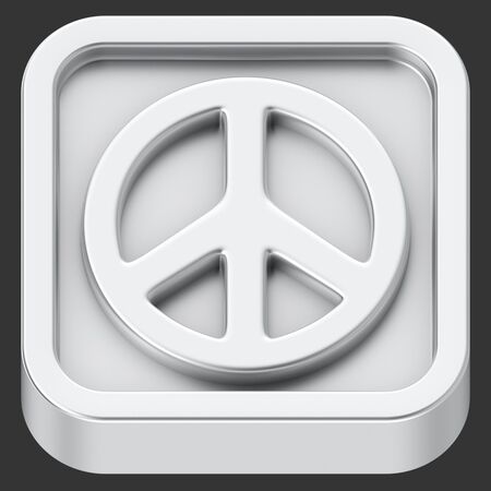 pacifism: Peace symbol rounded square shape application icon