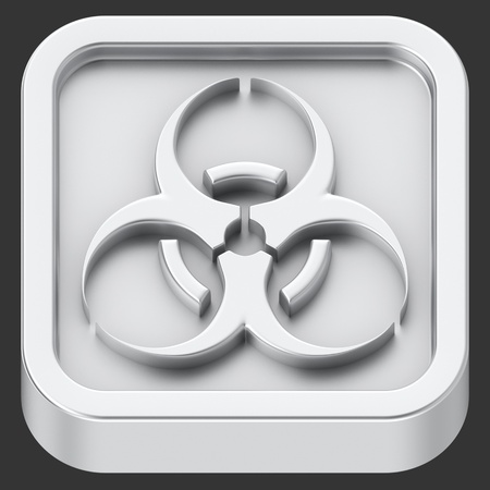 Biohazard rounded square shape application icon photo