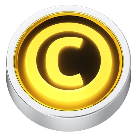 Copyright symbol round shape application icon photo