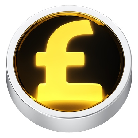 Pound currency round shape application icon photo