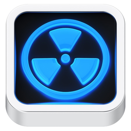 Radiation symbol luminous square shape application icon Stock Photo - 22419859