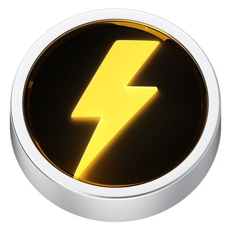 Lightning symbol round shape application icon photo