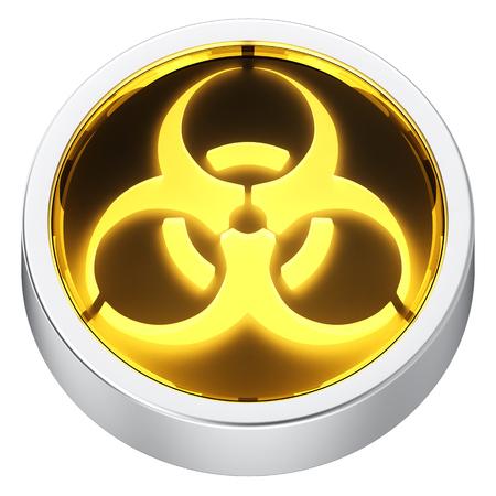 riesgo biologico: Icono de la aplicación forma redonda Biohazard