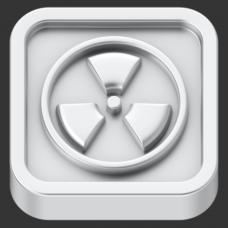 Radiation symbol rounded square shape application icon Stock Photo - 22422580