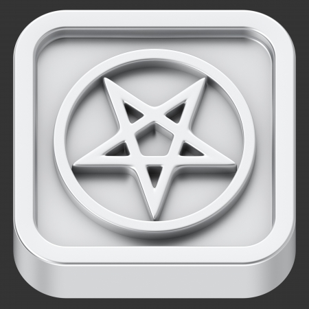 Pentagram sign rounded square shape application icon photo