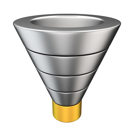 sales person: Purchase funnel illustrating the customer journey towards the purchase