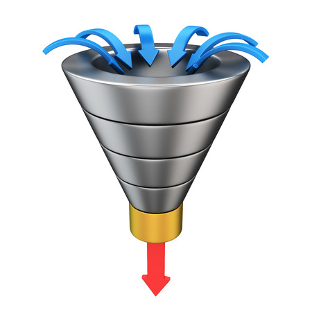 Purchase funnel illustrating the customer journey towards the purchase