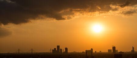 megalopolis: Picturesque sunset in megalopolis Bangkok, Thailand, Asia