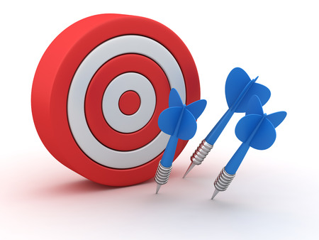 Dartboards with three darts missed off Standard-Bild