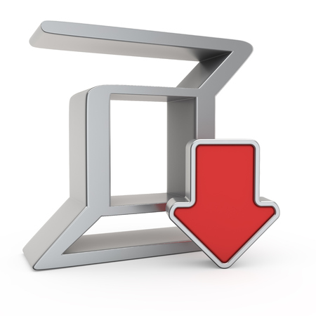 depreciation: Zerocoin currency symbol and icon of depreciation