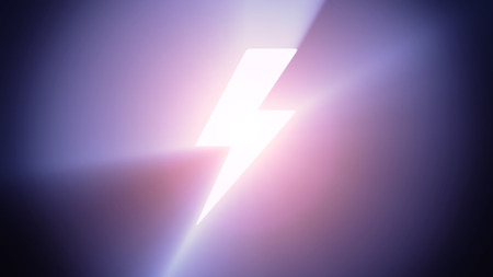 Radiant light from the symbol of lightning photo
