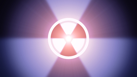 Radiant light from the symbol of radiation sign photo