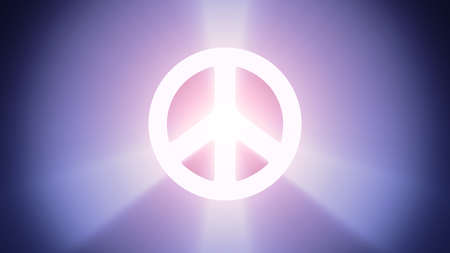 irradiation: Radiant light from the symbol of peace