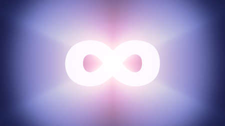 irradiation: Radiant light from the symbol of infinity Stock Photo