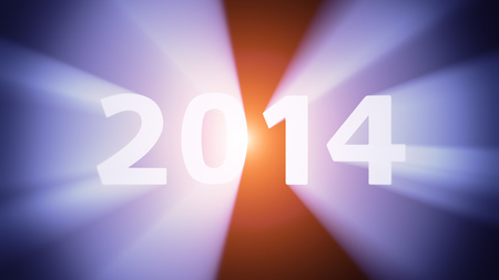 radiant light: Radiant light from the digits 2014