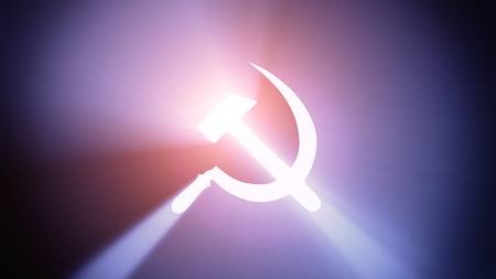 aureole: Radiant light from the symbol of communism