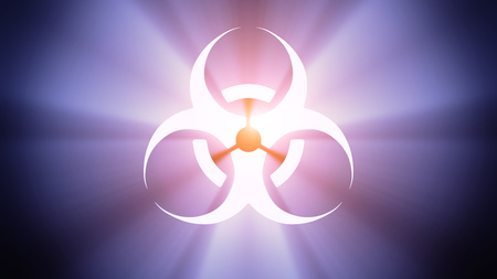 radiant light: Radiant light from the symbol of biohazard