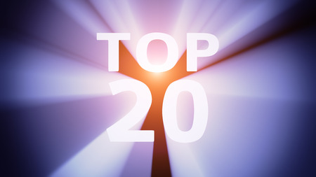 radiant light: Radiant light from the word TOP 20